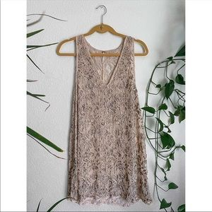 Free People Beaded Lace Tank Top